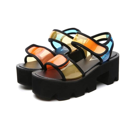 Fashion Colorful Platform Sandals