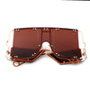 Fashion Square Oversize Mirror Shades Sunglasses