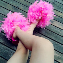 Load image into Gallery viewer, Handmade Feathers Fur Wedge Sandal Flip Flops
