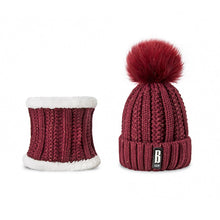 Load image into Gallery viewer, Hat And Scarf Warm Beanie Winter Hat Set