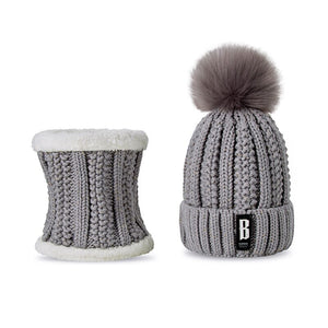 Hat And Scarf Warm Beanie Winter Hat Set