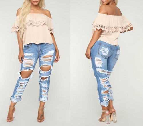 Boyfriend  Loose Long Denim Jeans