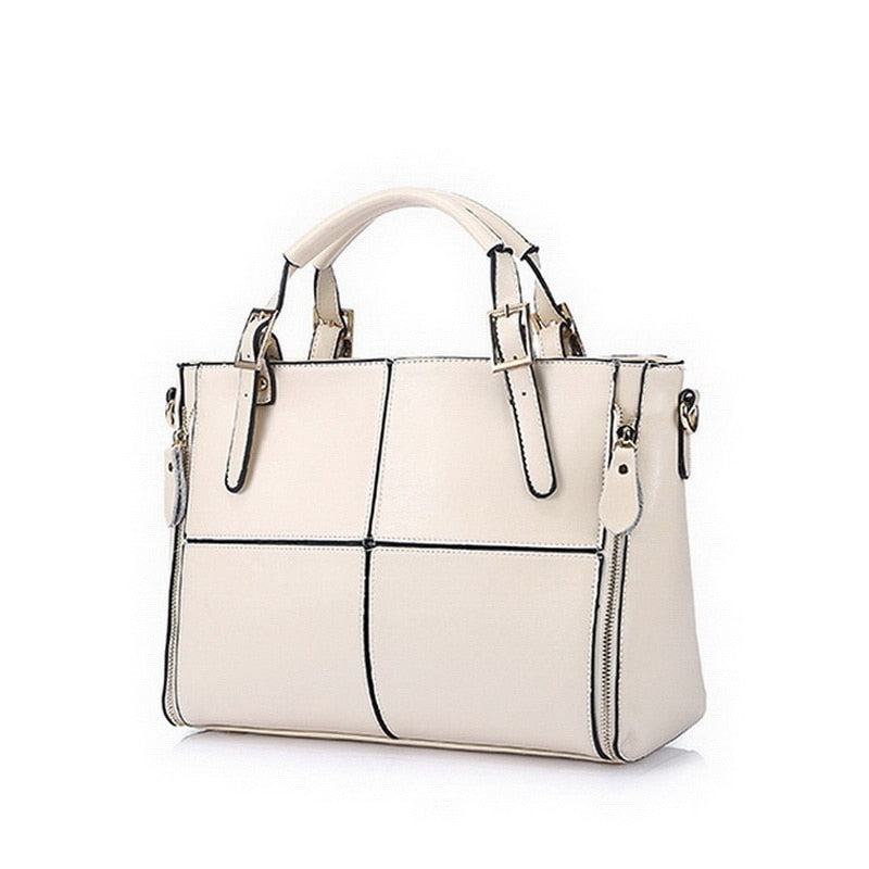 Fashion Patchwork Design Cattle Split Shoulder Bags