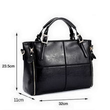Load image into Gallery viewer, Fashion Patchwork Design Cattle Split Shoulder Bags