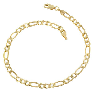 Fremada 14k Yellow Gold-filled Figaro Link Bracelet (8.5 inch) - kats closet1