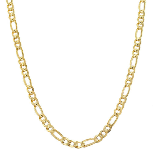 Fremada 14k Yellow Gold-filled Solid Figaro Link Chain Necklace - kats closet1