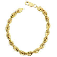 Load image into Gallery viewer, Fremada Men's 14k Yellow Gold Filled Bold 6-mm Rope Chain Bracelet - kats closet1