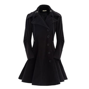 Single Breasted Slim Overcoat - kats closet1
