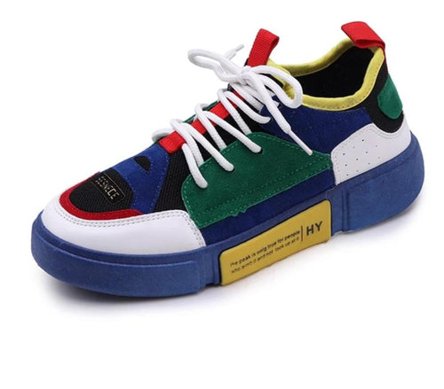 Platform Color Block Thick Bottom Casual Sneakers