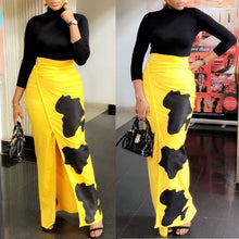 Load image into Gallery viewer, High Waist High Split Yellow Ankle Length Skirt