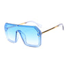 Large Frame Letters Print Lenses Fashion Sunglasses