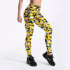 Minions Cartoon Print High Waist Leggings
