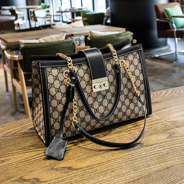 Fashion Portable Large Chain Strap Tote Bag