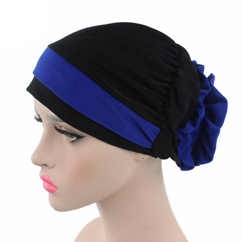 Solid Bandanas Stretchy Beanie Pre Tied Head Scarf - kats closet1