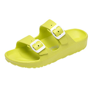 Lazy Buckle Jelly Open Toe Casual Flat Sandal