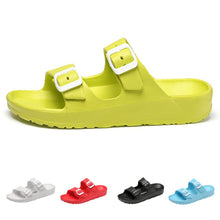 Load image into Gallery viewer, Lazy Buckle Jelly Open Toe Casual Flat Sandal
