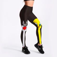 Load image into Gallery viewer, Cartoon Cat and Bird Print Fitness Leggings