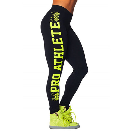 Letter Print Sporting Bodybuilding Aerobics Exercise Leggings