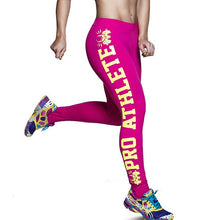 Load image into Gallery viewer, Letter Print Sporting Bodybuilding Aerobics Exercise Leggings