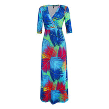 Load image into Gallery viewer, Long  Plus Size V-Neck Maxi Dress