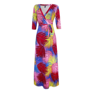 Long  Plus Size V-Neck Maxi Dress