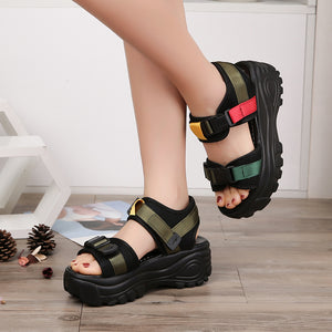 Platform Wedges Open Toe Thick Soled Sandals