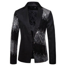 Load image into Gallery viewer, Shiny Sequin Glitter Embellished Blazer Jacket