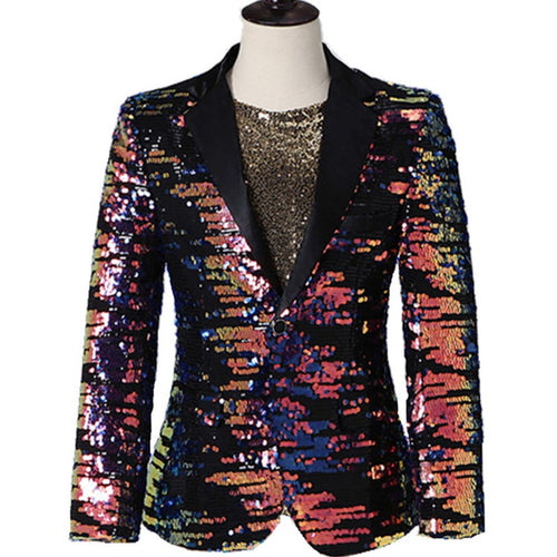 Multi-Color Sequins Blazer Suit Jacket