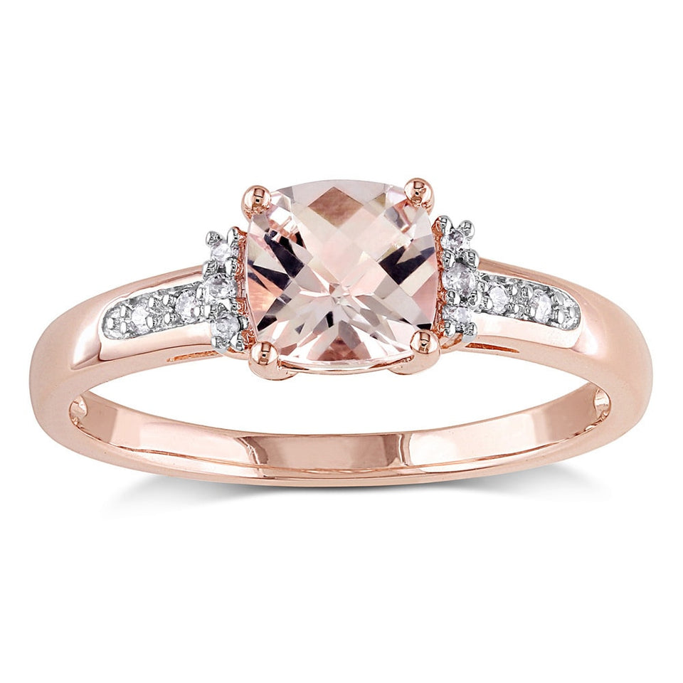 Miadora 10k Rose Gold Morganite with Diamond Accent Engagement Ring - kats closet1