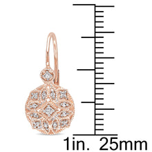 Load image into Gallery viewer, Miadora 14k Rose Gold 1/6ct TDW Diamond Earrings - kats closet1