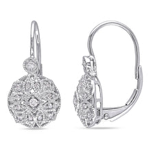 Load image into Gallery viewer, Miadora 14k White Gold 1/6ct TDW Diamond Earrings - kats closet1