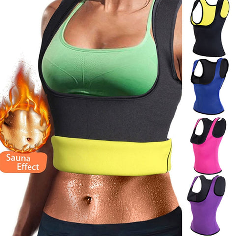 Sauna Sweat Neoprene Body Shaper Slimming Thermo Push Up Vest Waist Trainer