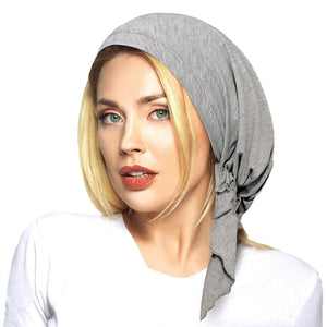 Soft Lycra Pre Tied Fitted Head Scarf - kats closet1