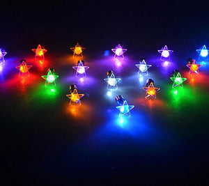 LED Stud Light Up Plum Flower / Star Round Glowing Crystal Earrings