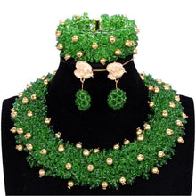 Load image into Gallery viewer, African Nigerian Bridal Necklace Wedding Jewelry Set