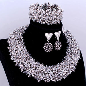 African Nigerian Bridal Necklace Wedding Jewelry Set
