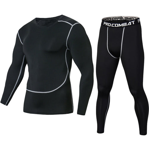 Compression Shirts + Leggings Crossfit Long Sleeve Set - kats closet1