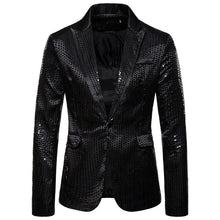 Load image into Gallery viewer, Sequin Glitter Slim Wedding Party Blazer