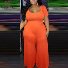 Load image into Gallery viewer, Plus Size Wide Leg One Piece Long Jumpsuit