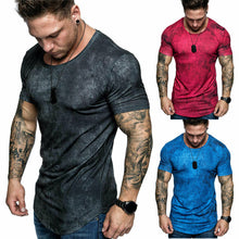 Load image into Gallery viewer, Slim Fit V Neck Short Sleeve Muscle T-Shirt