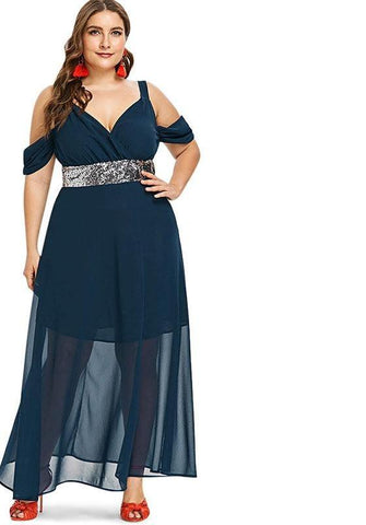 b9771c8de42 Plus Size Off Shoulder Sexy Elegant Chiffon Mesh Party Dress 5XL XXXXL XXXL  XXL