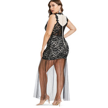 Load image into Gallery viewer, Plus Size XXXL XXL See Through Mesh Lace Tank Party Sleeveless Bodycon Maxi Dress - kats closet1