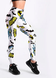 Batman Print Fashion Slim Cartoon Leggings