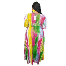 Load image into Gallery viewer, Rainbow Tie Dye 3 Piece Plus Size Crop Top+Shorts Set