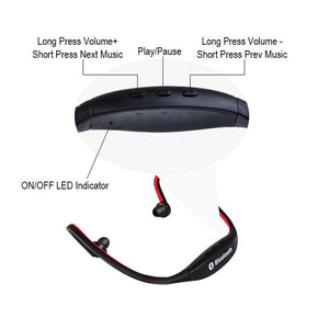 Wireless Headphone Sport Bluetooth Earphone Headset With Mic For Phone Support TF/SD Card
