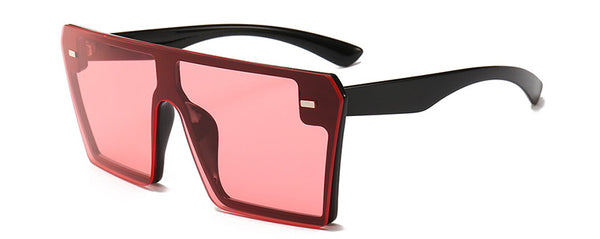 Oversize Square Flat Top Sunglasses