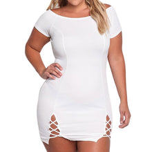 Load image into Gallery viewer, Plus Size O-Neck Casual Dress