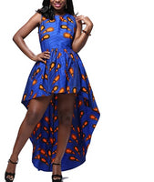 African Cotton Print Long Hem Dress