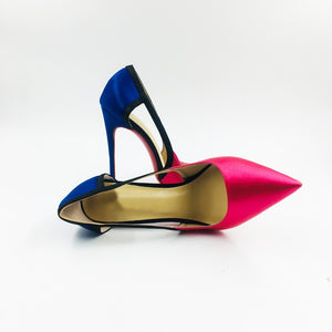 Satin Stilettos Thin High Heels Party Shoes