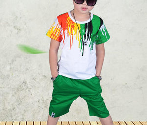 Boys Short Sleeve T Shirt & Pants Set - kats closet1